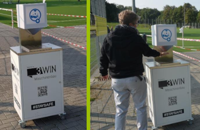3WIN Maschinenbau GmbH erleichtert Hygiene am Platz